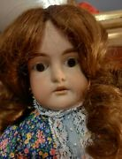 Antique 17 1896 Cuno, Otto, And Dressel Doll W/ Hh Wig In Multi Floral Dress2