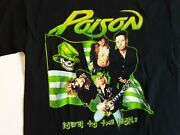 Poison 2000 Power To The People Tour T Shirt Sz Large