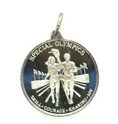 Special Olympics- Skill Courage Sharing Joy - 1.75 D Silver Award Medal Charm