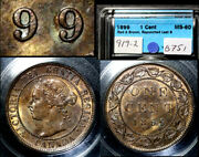 Nice Collection - Canada Large Cent - 1899 Triple Punched 9/9/9 - Ms60 B751