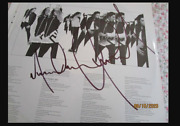 Michael Jackson Invincible Authentic Lp Signed Twice In Nyc 2001 Autograph