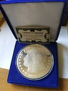 12 Troy Oz. Fine Silver Morgan Style Large Round - Global Minting