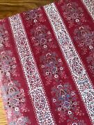 Antique 19th Century French Hand Blocked Turkey Red Cotton Fabric 27 X 16