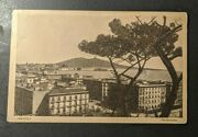 1927 Naples Italy Panorama Real Picture Postcard Cover To Westfield Nj Usa