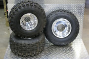 85 Honda Atc350x Front And Rear Wheels And Tires 22x11x9 Rear 23.5x8-11 Front