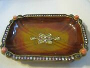 Jay Strongwater Ling Mystic Knot 3 1/2 Trinket Tray, Coral Corners And
