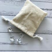 100x Natural Linen Jewelry Bags Rustic Wedding Favor Gift Bag Product Packagings