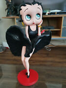 Extremely Rare Betty Boop With Cool Breeze Black Glitter Dress Figurine Statue