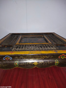 China Old Wood Lacquer Ware Manual Color Painting Dragon Pattern Abacus Table