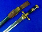 Antique German Germany Austrian 19 Century Firemanand039s Saw Back Short Sword Dagger