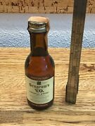 Vintage Seagrams Mini Whiskey Bottle With Canada Excise Tax Tag Intact Nn2
