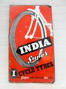 Vintage Old Rare Collectible India Super Tyre Ad Porcelain Enamel Sign Board