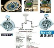Double Satellite Led Ot Lamp Operating Surgical Operation Theater 48+48 Paris @c