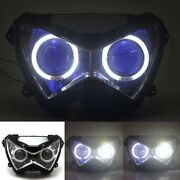 White Angel Eyes Blue Demon Assembly Projector Headlight Hid For Kawasaki Z250