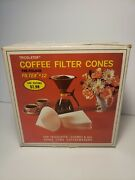 Vintage Tricolator Coffee Filter Cones Filtex 12 100 Filters For 8 Cups