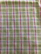 Baby Steps Fabric By Southseas Imports. Pink Green White Plaid 1and1/2 Yard++