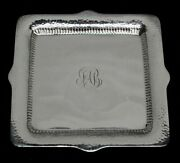 Vintage And Co 1885 Sterling Silver 9 Square Vanity Tray