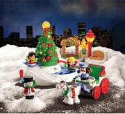 Fisher-price Little People - Tree Lighting In Discovery Park - Complete