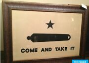 Come And Take It Large Texas Flag Framed Aged Real Rustic 40 By 28