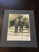 Antique Cabinet Card Photo Train Or Streetcar Conductors Neat Image