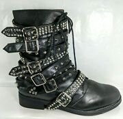 Jeffrey Campbell Cruzado Studded Boots Moto Boot Us 11 Hard To Find Sold Out