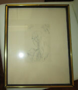 Original Vintage 1940s Etching Of A Woman By Pierre Bonnard - Great Rare Piece