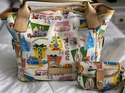 Disney Dooney Retro Paris Kristen Tote Nwt And Used Wristlet