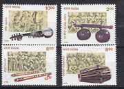 India Mnh Stamp 1998 Sg 1826-1829 Musical Instruments
