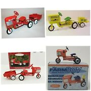 Hallmark Pedal Tractor Kiddie Car Classics New Mint In Boxes