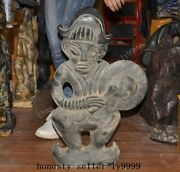 Chinese Hongshan Culture Old Jade Musical Instrument Music Sacrifice Statue