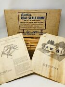 """Rare Vintage """"real Scale Products"""" Cabin House Wood Model Kit 1960 Hobby Build"""