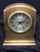 And Co New York Antique Bronze Chelsea Mantel Clock For Repair