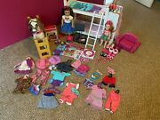 American Girl Lot. American Girl Softball, Violin, Clothes, Shoes, Bed, Horse
