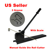 Three Groove Manual Guide Din Rail Cutter For Aluminum Alloy And Steel Rail Cut