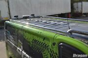 To Fit 2014+ Renault Trafic Swb Stainless Roof Rails + Cross Bars + Load Stops