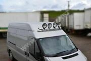 To Fit 99 - 06 Iveco Daily Front Medium High Roof Light Bar + Round Black Spots