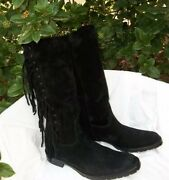 Coach Arriana Suede Size 9 Ladies Fringe Boots Lknew Barely Used 450.00