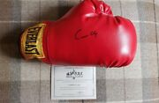 Muhammad Ali Signed Boxing Glove As Cassius Clay - Stacks Of Plaques