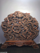 Collection China Rosewood Hollowing Out Carving Kowloon Screen