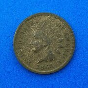1864 L Indian Head One Cent Penny 1c Type 3 Bronze Better Key Philadelphia Coin