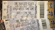 2002 World Series Giants Home Ticket Stubs, Game 3 Vs Angels W/ Lanyard And Ferry