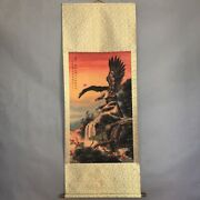 Fine China Hand Ink Paper Scroll Painting Hawk Eagle In Moutain Pine Tree Gift