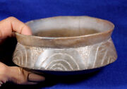 Means Engraved Bowl Authentic Native American Pottery
