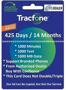 Tracfone Service Extension 425 Days1000mins/1000 Txt/1000mb For Branded Phones