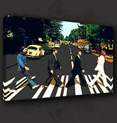Iconic Beatles On Abbey Road Music Band Box Canvas Print Wall Art Picture