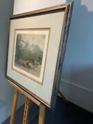 Josef Eidenberger....hand Pencil Signed Colored Etching Of Dolomite Mountains