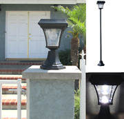 Solar Fence Gate Post Lamp Outdoor Aluminum Light Ultra Bright With 4 Leds