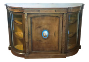 19th Century French Side Cabinet Credenza With Porcelain Plaque
