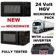 Small Curved 24 Volt Microwave Hgv Lorry 240v Inverter Package 24v Truck Driver