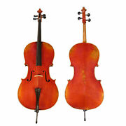 D'luca Hand-made French Antique Finish Ebony Cello Outfit, 4/4 Full Size